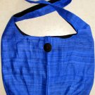 Thai BUDDHA BAG Raw Silk Messenger Sling Purse RICH BLUE