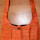 Thai BUDDHA BAG Raw Silk Messenger Sling Purse ORANGE