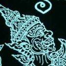 Thai RAMASOON THUNDER GOD Long Sleeve T-Shirt M Wht/Blk