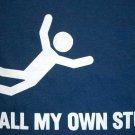 I DO ALL MY OWN STUNTS Fun New T-Shirt XXL Dark Blue