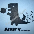 ANGRY_ _ _ _ New T-shirt by CISSE Asian L Lt BLUE BNWT!