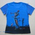 Salvador Dali BURNING GIRAFFE Cap Sleeve Fine Art Print T Shirt Misses L Large