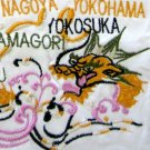MAP of JAPAN New EMBROIDERED T-shirt Asian XL White
