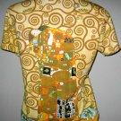 Gustav Klimt EMBRACE Cap Sleeve Fine Art Print T Shirt Misses XL Extra Large