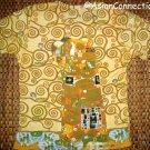 Gustav Klimt EMBRACE Cap Sleeve Fine Art Print T Shirt Misses L Large