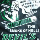 DEVIL'S HARVEST SMOKE of HELL Cool New Retro T-shirt L