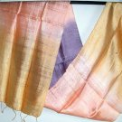 Thai Hand Crafted Silk Fabric Scarf PURPLE PINK GOLD