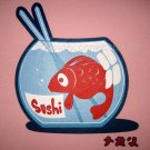 FISHY SUSHI Fun New CISSE T-shirt Asian XL Pink BNWT!