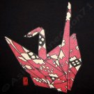 ORIGAMI CRANE New Ronin Japan TSURU T shirt L Black NWT