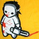 NORTH DRAGON Baby Jason Bloody Chainsaw Massacre T-Shirt S Small Yellow