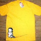 NORTH DRAGON Baby Jason Bloody Chainsaw Massacre T-Shirt L Large Yellow