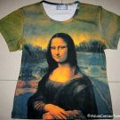 MONA LISA Leonardo Da Vinci New Cap Sleeve Fine Art Print T Shirt Misses S