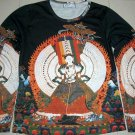 KANNON New Buddha Goddess Long Sleeve Art Print T Shirt Misses L