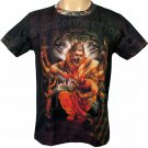 NARASIMHA VISHNU Hindu God Art Print Short Sleeve T-Shirt MENS M Medium