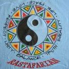 RASTAFARIAN Ying Yang Roots Rasta REGGAE T-shirt XL Light Blue