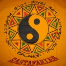 RASTAFARIAN Ying Yang Roots Rasta REGGAE T-shirt M Medium Yellow