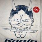 RONIN STREET WEAR New Japanese ONI T-Shirt XL Cream NWT