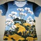 Hokusai FUGAKU SANJUROKEI Japanese Ukiyoe Art T Shirt Misses XL Short Sleeve