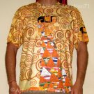EXPECTATION Gustav Klimt Short Sleeve Art Shirt MENS L