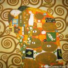 Gustav Klimt EMBRACE Cap Sleeve Fine Art Print T Shirt Misses S Small