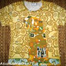 Gustav Klimt EMBRACE Cap Sleeve Fine Art Print T Shirt Misses M Medium