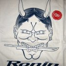 RONIN STREET WEAR New Japanese ONI T-Shirt L Cream BNWT