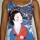 WINTER GEISHA New Japanese Ukiyoe Art Print TANK TOP XL