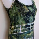 Monet WATER LILY POND New Hand Printed Art Tank Top M