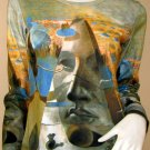 Salvador Dali PYRAMID of FORTUNE Long Sleeve Art Print T Shirt Misses S Small