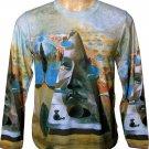 PYRAMID of FORTUNE Salvador Dali Long Sleeve Fine Art Print Shirt Men's XL