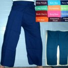 Thai Fisherman Yoga Pants New FREESIZE Rayon NAVY BLUE