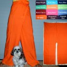 Thai Fisherman Yoga Pants FREESIZE Rayon ORANGE Casual Asian Yoga Dance Trousers