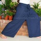 Thai PLUS SIZE XXL Rayon Fisherman Yoga Pants NAVY BLUE