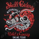 SKULL RIDERS Embroidered Motorcycle Chopper T-Shirt M