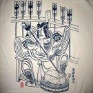 SAMURAI ARCHER Ronin Japan Yakuza T-Shirt L Cream BNWT!
