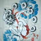 MODERN RAIJIN Japan Thunder God RONIN T-Shirt L Cream