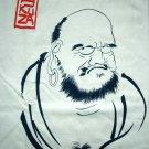ZEN Buddhist DARUMA Ronin Japan T-shirt XL Cream
