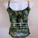 WATER LILY POND Monet Art Print Shirt Singlet TANK TOP Misses S Small