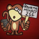 SPANK THE MONKEY 25¢ New SINAN Cotton T-shirt XL RED