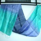 Thai PURPLES and BLUES Pure Raw Silk Fabric Textile Scarf Direct from Thailand 10-31