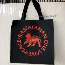 RASTAFARIAN PEACE ONE LOVE Large REGGAE Canvas TOTE BAG L