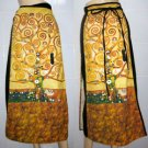 TREE of LIFE Gustav KLIMT Fine Art Print Long Wrap Cotton Skirt FREESIZE