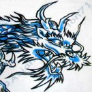 BLUE DRAGON Short Sleeve Irezumi Biker Tattoo T-Shirt M Medium