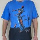 Salvador Dali BURNING GIRAFFE New Art Print T Shirt Men's Short Sleeve L Large