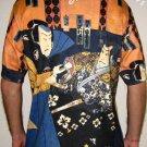SHARAKU Japan Ukiyoe Samurai Art Print Short Sleeve T Shirt Mens L Large
