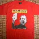 ANTI WAR George W Bush Dead or Alive WAR CRIMINAL T-shirt XL Red