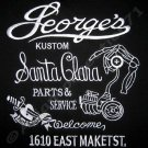 GEORGE'S New KUSTOM Embroidered Biker Hot Rod T-Shirt L