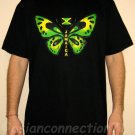 JAMAICA BUTTERFLY New Irie Roots REGGAE T-Shirt L Black