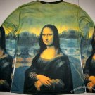 MONA LISA Leonardo Da Vinci LONG SLEEVE Fine Art Print T Shirt Misses XL