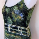 Monet WATER LILY POND New Hand Printed Art Tank Top XL